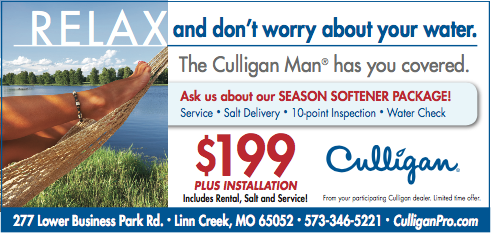 Culligan Ad for Seasonal Home Owners